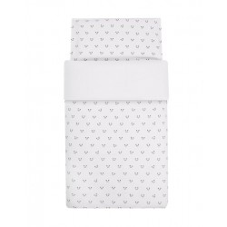 FUNDA NÓRDICA DÍPTICA+PROTECTOR PANDA BLANCO