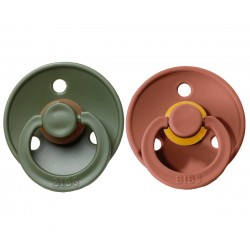 2 Chupetes BIBS Colores Woodchuck/Hunter Green