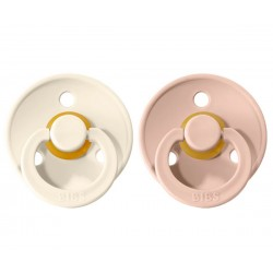 2 Chupetes BIBS Colores Blush/Ivory